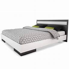 lit 2 personnes blanc lit 2 personnes 160cm x 200cm blanc et gris graphite effy dya shopping fr