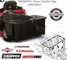 snapper rear engine rider grass catcher bag single bag grass collection system 24847926385 ebay