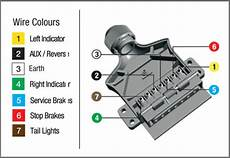 7 wire diagram how to wire up a 7 pin trailer or socket kt