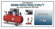 compresseur 200 bar compresseur 224 courroie gs28 500 l min sur cuve mobile 200