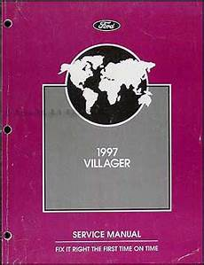 free auto repair manuals 1997 mercury villager electronic toll collection 1997 mercury villager original repair manual 97 gs ls ebay