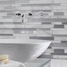 smart tiles 9 65 in w x 11 55 in h peel and stick mosaic