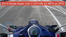 supercub 2019 honda cub c125 top speed run 62mph