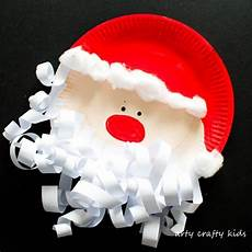 paper plate santa claus arty crafty