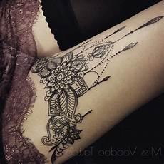 Oberschenkel Mandala Ideen Henna