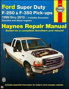 car manuals free online 2010 ford f350 electronic valve timing ford super duty f 250 f 350 excursion repair manual 1999 2010