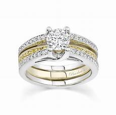 barkev s two tone engagement set with white yellow