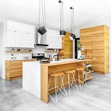 Cuisine Blanche Et Bois De Style Scandinave Je D 233