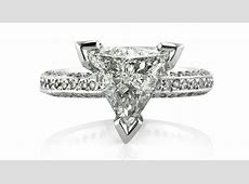 Engagement Rings with Trillion cut Diamond Centers