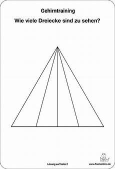 Wie Viele Dreiecke - wie viele dreiecke sind es r 228 tsel