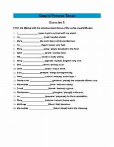 exercises simple present tense elementary level exercises of simple present tense with answers by laila