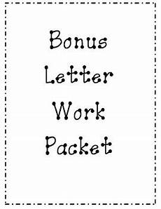 bonus letter worksheets 23982 bonus letter work packet by miss sabella teachers pay teachers