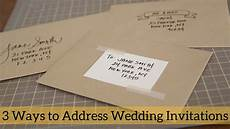 Easy Way To Address Wedding Invitations 3 ways to address wedding invitations
