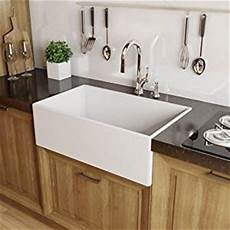 miseno mno3020fc modena 30 quot single basin farmhouse fireclay kitchen sink white amazon com