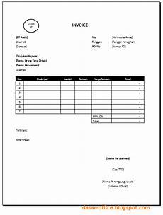 contoh invoice template excel tentoh