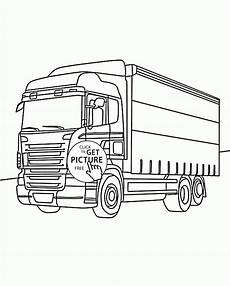 scania truck free colouring pages sketch coloring page