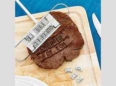 Personalized Steak Branding Iron   The Awesomer