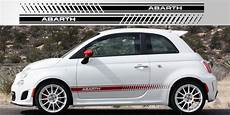 fiat 500 abarth side stripe decals stripe garage