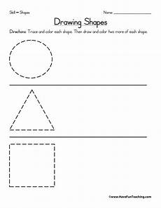 drawing shapes worksheets 1081 drawing shapes worksheet teaching