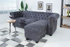 chesterfield sofa grau moebel koenig ch 3er sofa chesterfield grau antik look