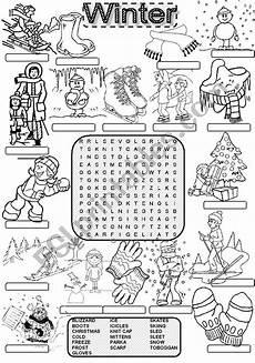 winter ela worksheets 19991 wordsearch winter esl worksheet by im lety