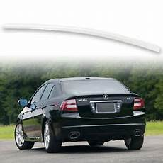 painted rear trunk lip spoiler for 04 08 acura tl white