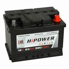 hr hipower autobatterie 12v 63ah 540a ersetzt 44ah 50ah