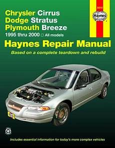 car repair manuals online free 1995 dodge stratus security system chrysler cirrus dodge stratus plymouth breeze haynes repair manual 1995 2000 hay25015