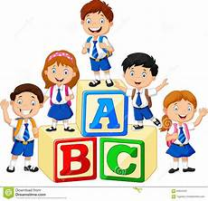 auto école nîmes happy school with alphabet blocks stock illustration