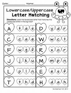 letter matching printable worksheets 24293 february printables kindergarten literacy and math literacy valentines and kindergarten