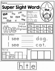 sight word super stars no prep pre primer edition worksheets sight word worksheets sight