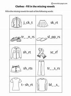 kindergarten worksheet clothes search esl teaching english lessons for kids