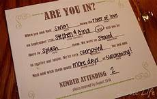 our diy mad libs style wedding rsvp invitiation card wedding humor wedding invite wording