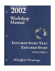automotive repair manual 2002 ford explorer sport electronic valve timing 2002 ford explorer sport trac explorer sport factory workshop manual 2 volume set