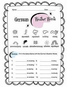 german worksheets 19630 german weather words worksheet packet by side up resources