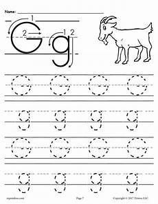 letter g matching worksheets 24631 free printable letter g tracing worksheet supplyme