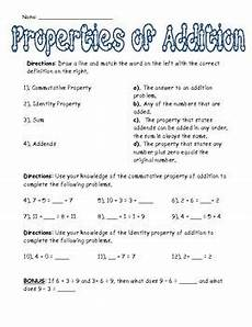 addition using properties worksheets for grade 1 9477 properties of addition worksheet 3rd grade teaching math elementary math addition