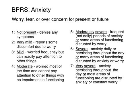 Brief Anxiety Scale