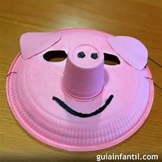 mascaras con platos descartables mascaras con platos descartables 纸盘手工制作小动物 手工小制作 10