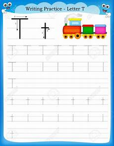 writing letter t worksheets for kindergarten 23551 stock vector writing practice t is for handwriting practice worksheets