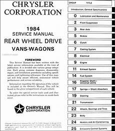 auto manual repair 1994 dodge ram wagon b250 electronic throttle control 1984 dodge ram van and wagon repair shop manual original b150 b350