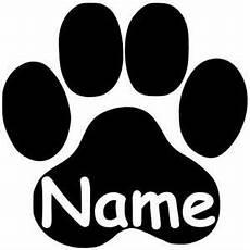 Malvorlagen Hundepfoten Pfote Mit Wunschname Katzenpfote Hundepfote Aufkleber