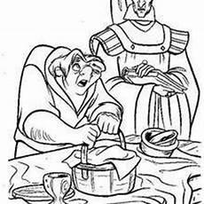 Quasimodo Malvorlagen Foto Esmeralda And Phoebus 1 Coloring Pages Hellokids