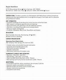 13 receptionist curriculum vitae templates pdf doc