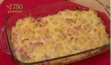 gratin de pate jambon 92678 recette gratin de p 226 tes au jambon en vid 233 o