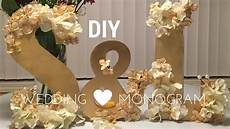 diy wedding decorations wooden monogram tutorial youtube