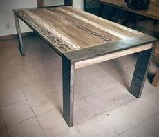 Table Moderne Grand Mod 232 Le Acier Bois