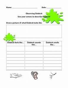 oobleck letter observation worksheet and assessment by stephalexnic