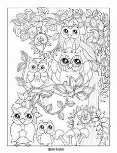 fall owl pages coloring pages