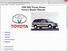 small engine repair manuals free download 1998 lotus esprit electronic valve timing toyota sienna 1998 2003 service manual repair manual
